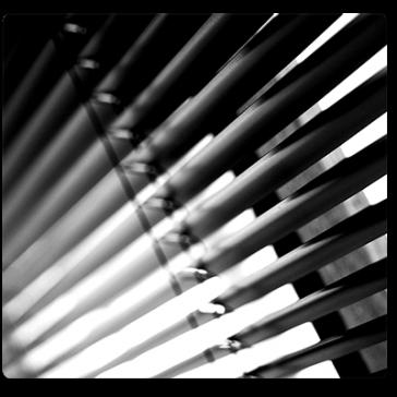 Ovenlys Persienner - Metallic mønstret & Flerfarvede